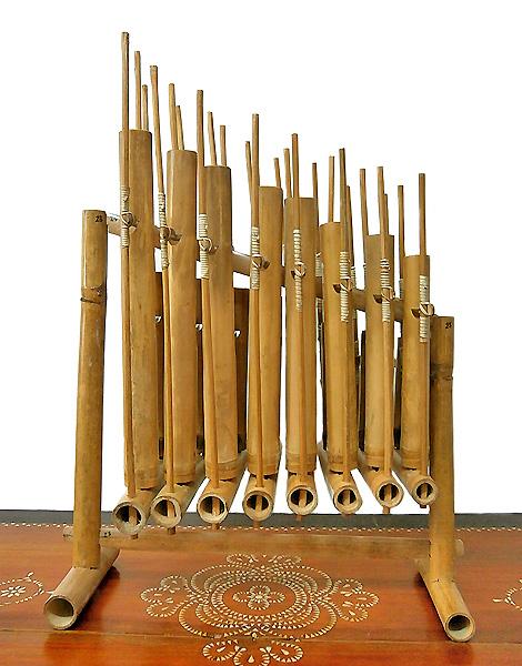 アンクルン AngkLung (L) 竹製 打楽器 [横幅52cm] アジアン 雑貨 バリ 雑貨 タイ 雑貨 アジアン インテリア