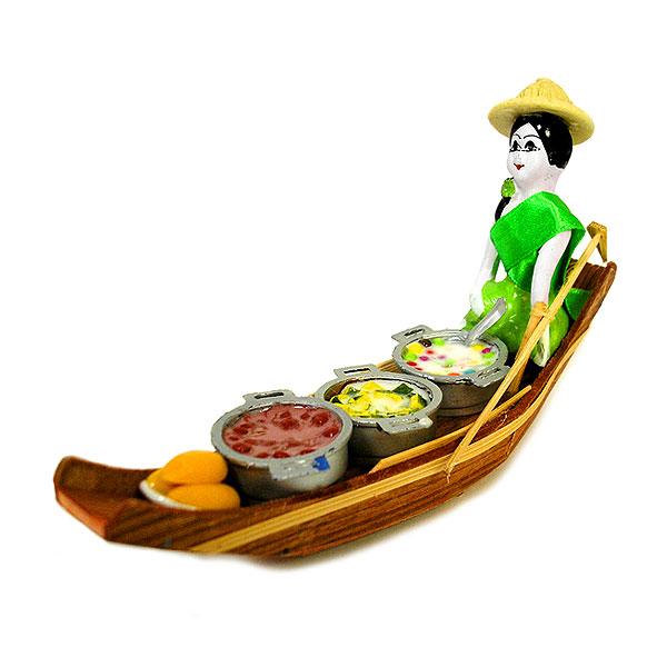 タイの水上マーケット 小舟 A 手作り 置物 アジアン雑貨 タイ雑貨 エスニック おしゃれな置物【楽ギフ_包装】P20Feb16