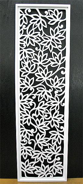 壁掛け木彫りのレリーフ G ロータス花模様 ホワイト120 [H.120.5cmx35cm] アジアン 雑貨 バリ 雑貨 タイ 雑貨 アジアン インテリア 送料無料