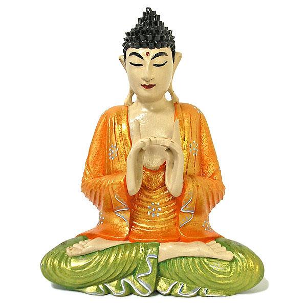 木彫りの仏陀 坐像 B [H.32.5cm] アジアン雑貨 バリ雑貨 おしゃれな 癒しの置物 仏像 フィギュア コレクション 送料無料