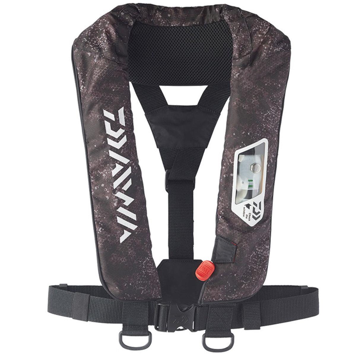 【送料無料5】ダイワ ウォッシャブルライフジャケット (肩掛けタイプ手動・自動膨脹式) DF-2007 ブラックへクス フリー