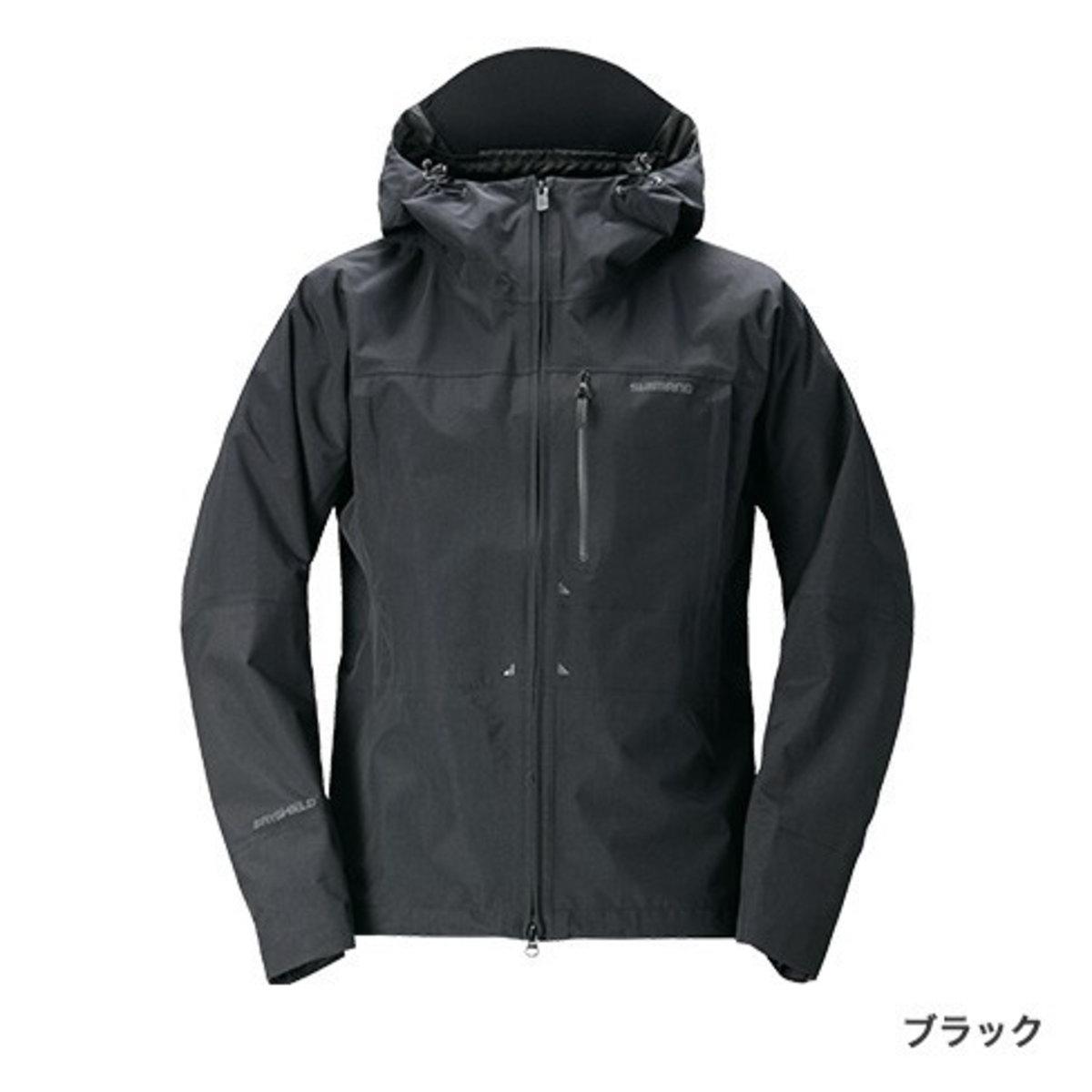 【送料無料4】シマノ DSエクスプローラーレインジャケット RA-04JT ブラック 2XL