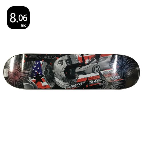 DGK AMERICAN DREAM スケートボード デッキ 8.06