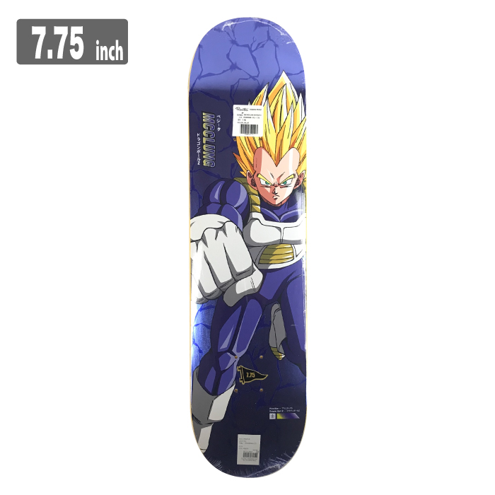 PRIMITIVE SUPER SAIYAN VEGETA プリミティブ スケートボードスケボー デッキ 7.75inch