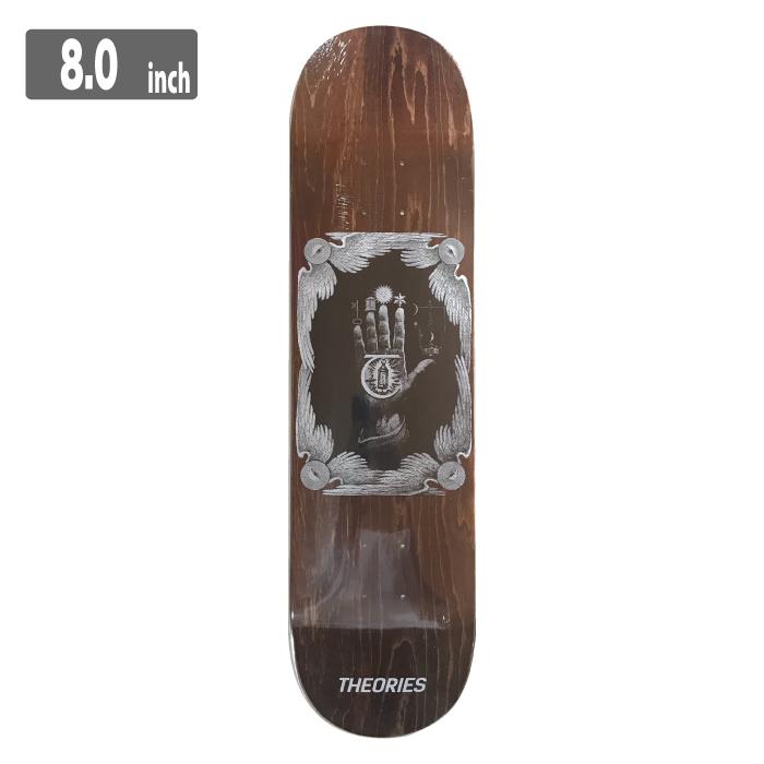 THEORIES HAND OF THEORIES Deck (Assorted Wood Grains) セオリーズ スケートボード デッキ 8.0