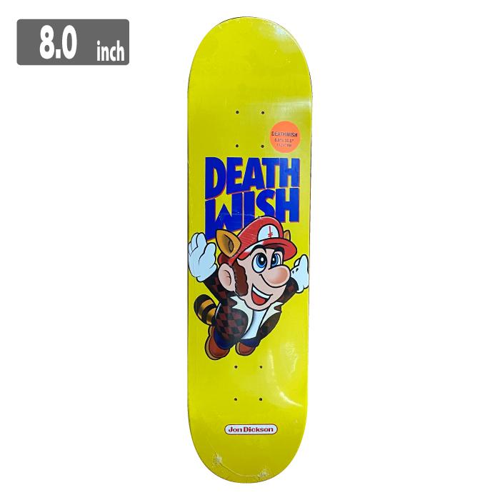 DEATHWISH DICKSON BROS デスウィッシュ スケートボード デッキ 8.0inch:ANGLE BANK