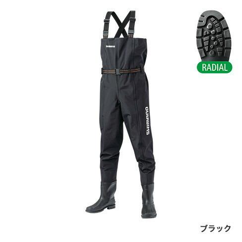 シマノ (Shimano) FF-054T ブラック LLサイズ ハイパーウェーダー(チェストハイ・ラジアルソール)