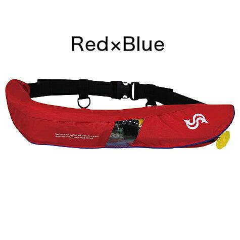 タカシナ 自動膨張ライフジャケット BSJ-5520RS Red×Blue レッド×ブルー
