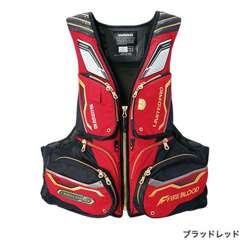 シマノ(Shimano) VF-113Q ブラッドレッド L(裾囲最大/130cm) NEXUS・FLOATING VEST LIMITED PRO