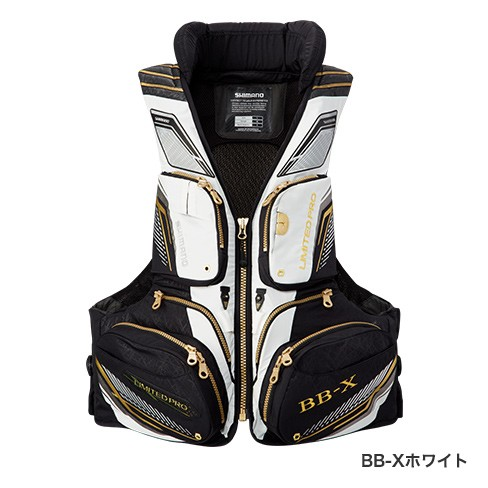 シマノ (Shimano) VF-111Q BB-Xホワイト Mサイズ NEXUS FLOATING VEST LIMITED PRO(枕付)
