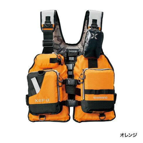 シマノ (Shimano) VF-278R オレンジ フリーサイズ (裾囲最大/145cm) XEFO ゲームベスト