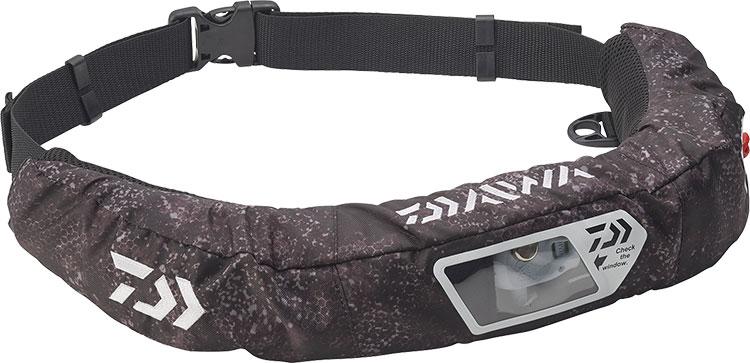 ダイワ (Daiwa) DF-2207 ブラックヘクス フリーサイズ ウォッシャブルライフジャケット(ウエストタイプ自動・手動膨脹式)