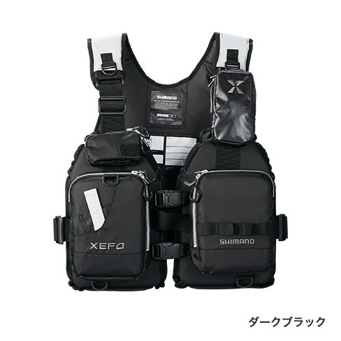 シマノ (Shimano) VF-278R ダークブラック フリーサイズ (裾囲最大/145cm) XEFO ゲームベスト