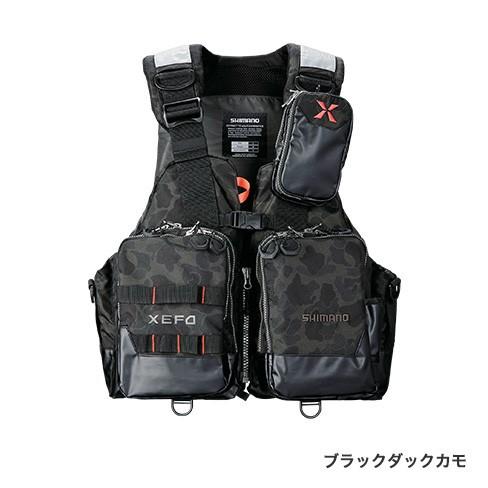 シマノ (Shimano) VF-274R ブラックダックカモ Lサイズ(裾囲最大/134cm)XEFO・アクトゲームベスト