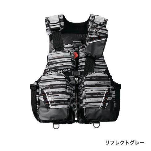 シマノ (Shimano) VF-275R リフレクトグレー 2XLサイズ(裾囲最大/164cm)XEFO・トリッパーゲームベスト