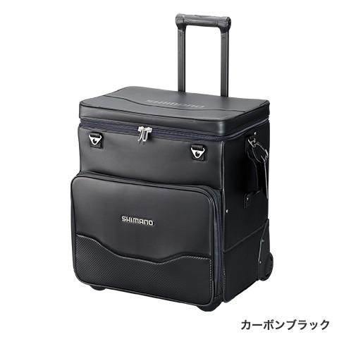 シマノ (Shimano) BA-011S カーボンブラック 50L へらキャリーバッグXT