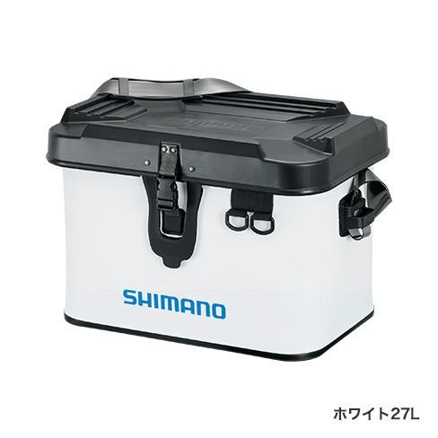 シマノ (Shimano) BK-001T ホワイト 27L タックルボートバッグ(ハードタイプ)