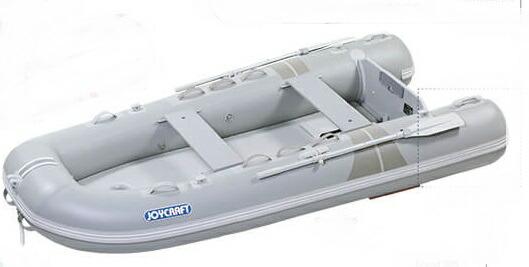 一筋書きの優美さ ジョイクラフト(JOYCRAFT)ゴムボート GRAND グランド325 予備検査付き 4人乗り ライトグレー