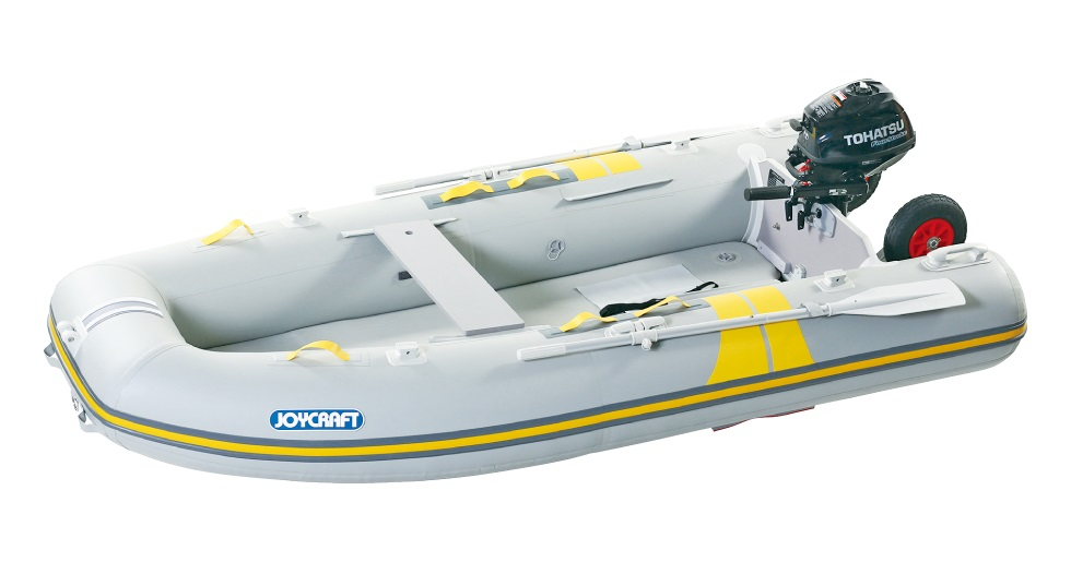ジョイクラフト(JOYCRAFT)ゴムボート キャロット303SSセット  ホンダ2馬力セット グレー