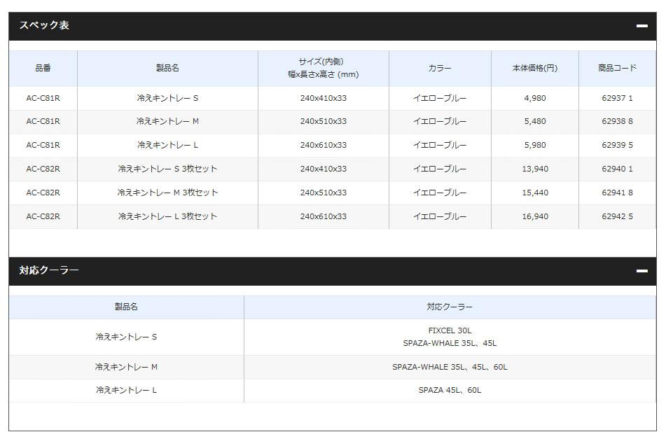 シマノ(Shimano) AC-C81R 冷えキントレー S