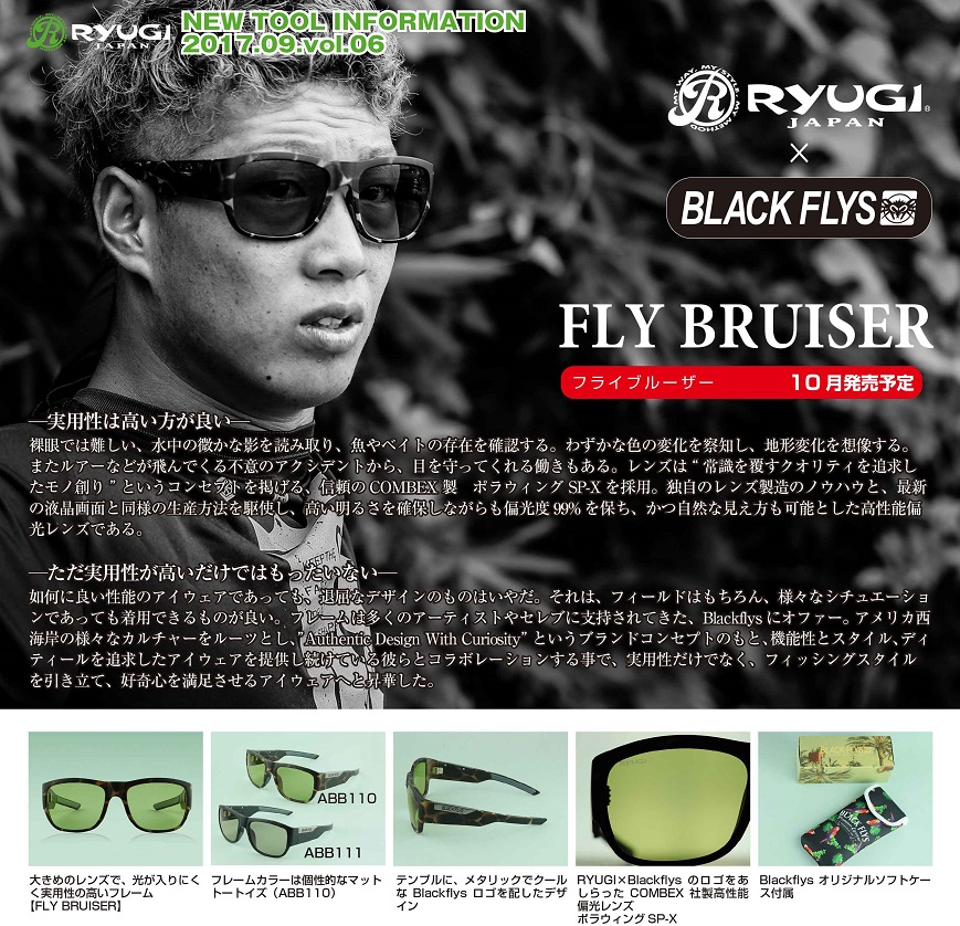 RYUGI リューギ RYUGI×BLACK FLYS FLY BRUISER フライブルーザー ABB111 フレーム マットブラック