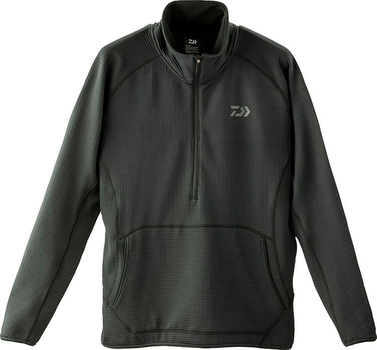 ダイワ (Daiwa) DE-91009 ブラック XLサイズ ミドルウェイトハーフジップシャツ