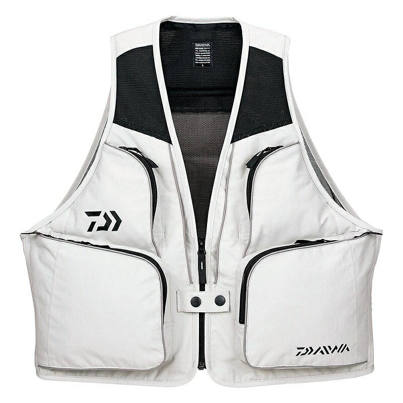 投げ釣りに最適な軽量ベスト ダイワ Daiwa DV-3608 サーフベスト ライトグレー 通販 激安 Lサイズ 返品送料無料
