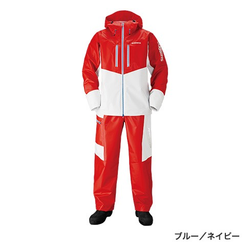 シマノ(shimano) RA-034N レッド/ホワイト Lサイズ マリンライトスーツ