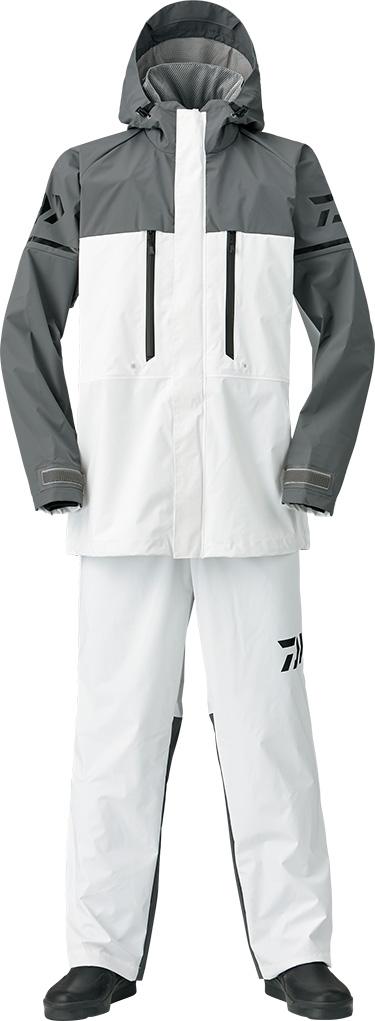 ダイワ (Daiwa) DR-9008 ホワイト 2XLサイズ(PVCオーシャンサロペットレインスーツ)