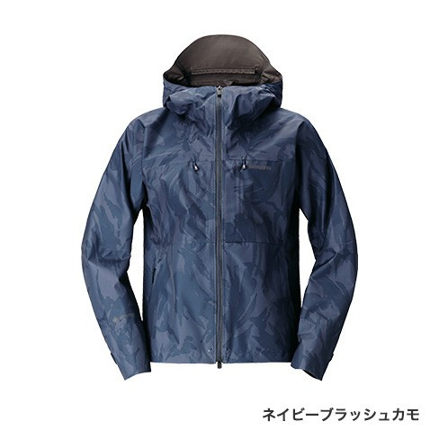 シマノ (shimano) RA-01JT ネイビーブラッシュカモ XLサイズ GORE-TEX®エクスプローラーレインジャケット