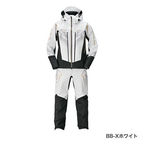 シマノ (shimano) RA-123T BB-Xホワイト 2XLサイズ NEXUS・DSクール レインスーツ LIMITED PRO