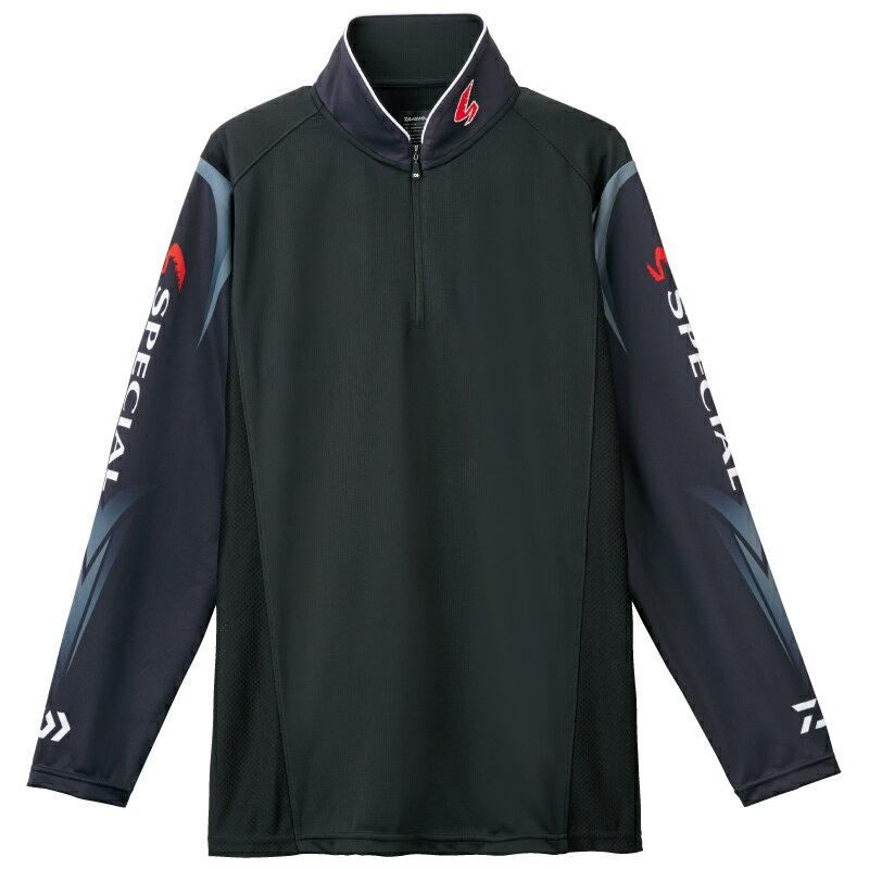 ダイワ (Daiwa) DE-7207 ブラック 3XLサイズ(スペシャル ウィックセンサー® ジップアップ長袖メッシュシャツ)