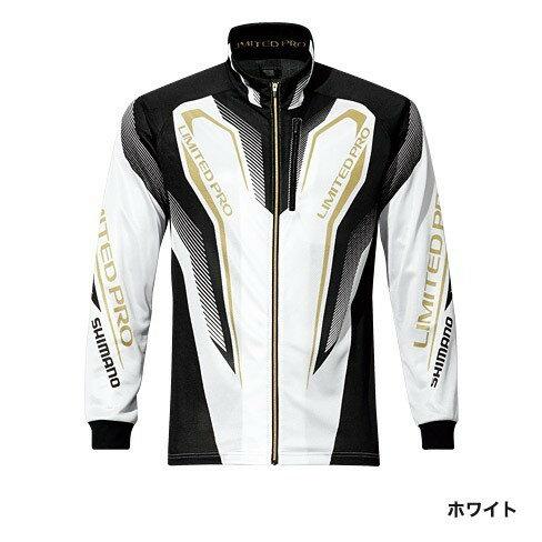シマノ(Shimano) SH-011P ホワイト 2XL WT-℃・フルジップリミテッドプロシャツ