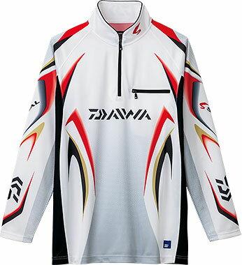 ダイワ(Daiwa) DE-7006 ホワイト 2XL(3L)サイズ (スペシャル アイスドライ® ジップアップ長袖メッシュシャツ)