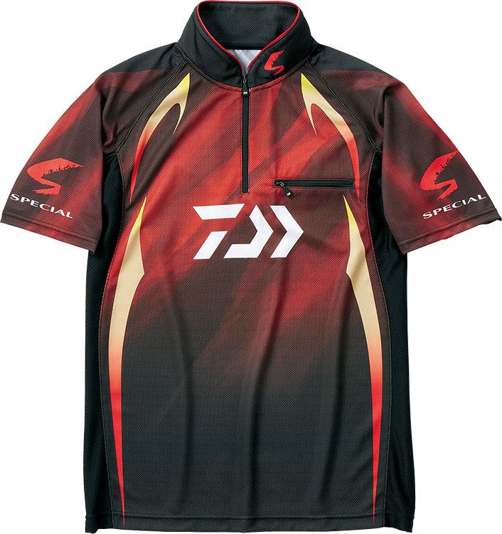 ダイワ (Daiwa) DE-71009 マグマブラック 3XLサイズ (スペシャル アイスドライ®ジップアップ半袖メッシュシャツ)