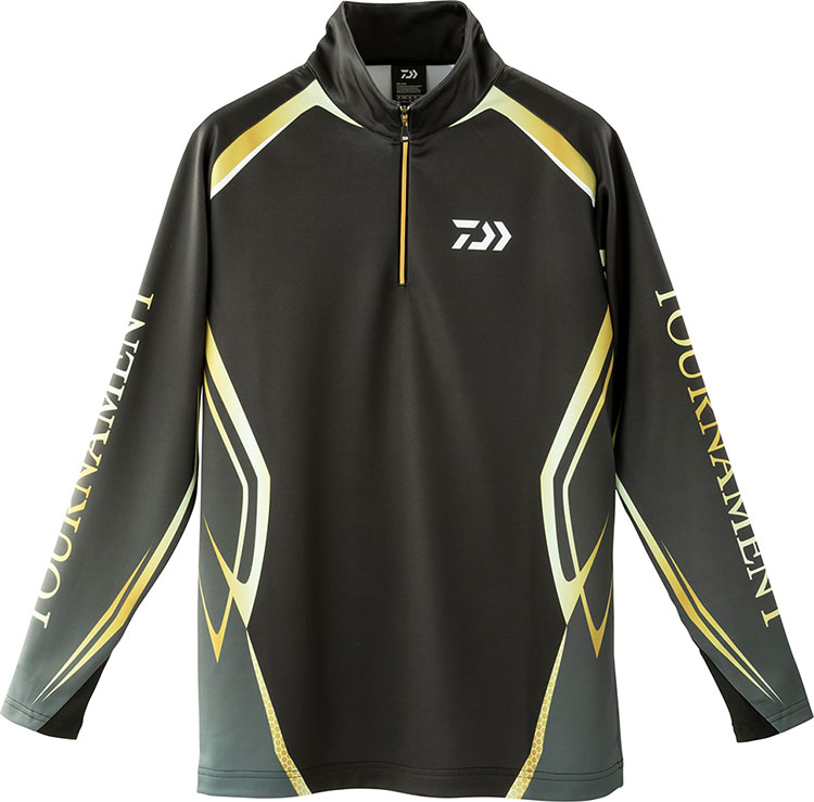 ダイワ (Daiwa) DE-31009T ブラック XLサイズ トーナメント ブレスマジック®ハーフジップシャツ