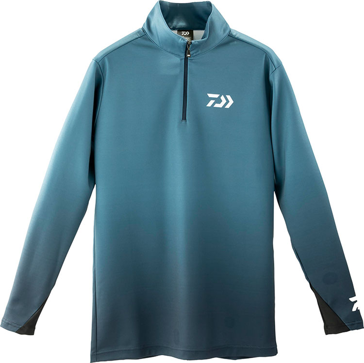 ダイワ (Daiwa) DE-33009 スモークネイビー XLサイズ ブレスマジック®ハーフジップシャツ