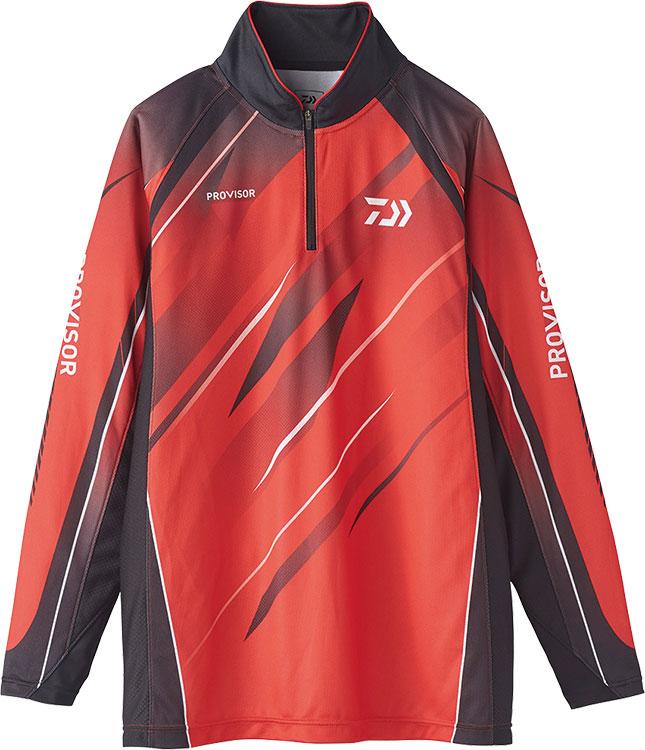 ダイワ (Daiwa) DE-74020 レッド Mサイズ(PROVISOR ウィックセンサー® ジップアップ メッシュシャツ)