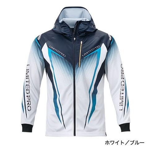 シマノ (shimano) SH-013T ホワイト/ブルー Mサイズ フルジッププリントフーディシャツLIMITED PRO(長袖)