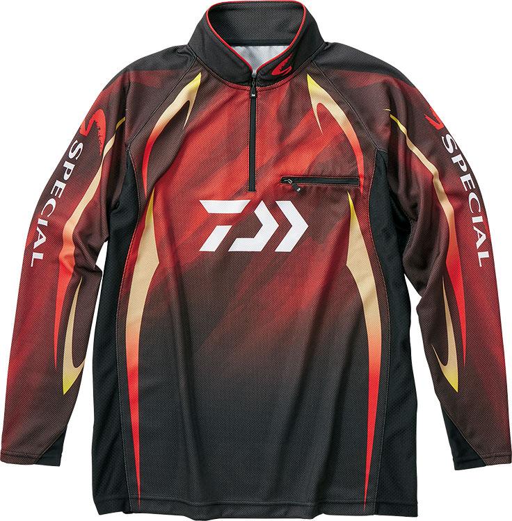 ダイワ (Daiwa) DE-70009 マグマブラック XLサイズ (スペシャル アイスドライ®ジップアップ長袖メッシュシャツ)