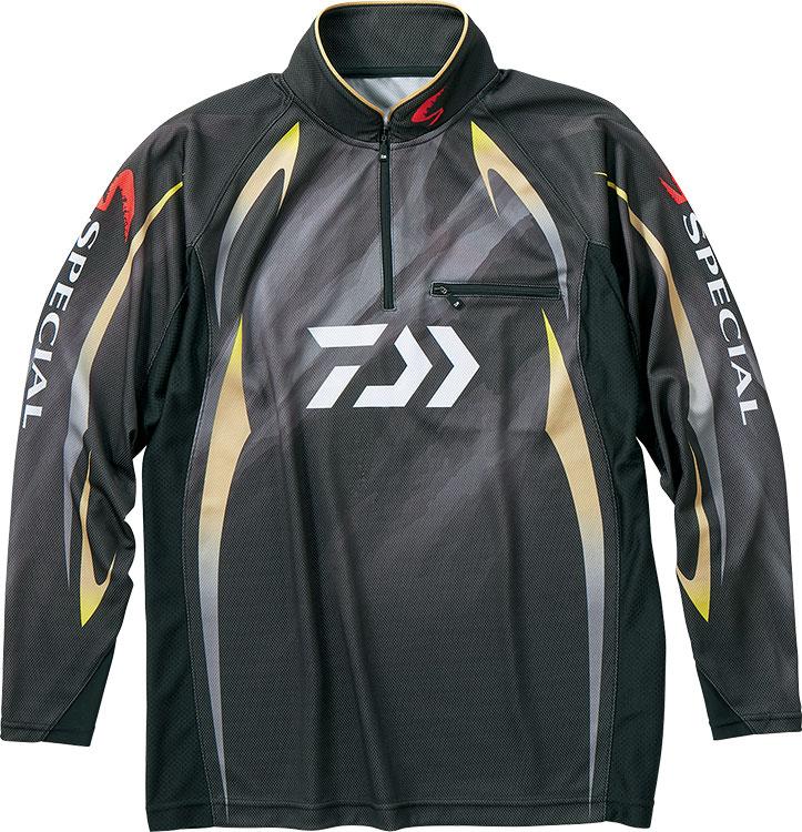 ダイワ (Daiwa) DE-70009 マスターブラック XLサイズ (スペシャル アイスドライ®ジップアップ長袖メッシュシャツ)