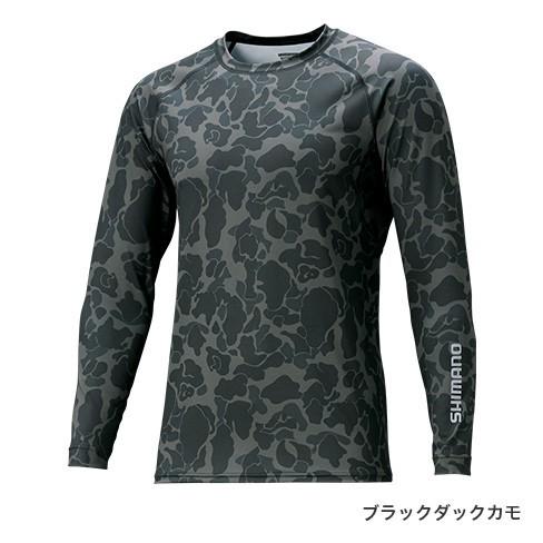 シマノ (Shimano) IN-061Q ブラックダックカモ Sサイズ SUN PROTECTION ロングスリーブシャツ:アングラーズWEB店