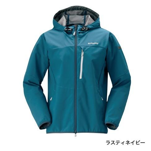 シマノ (Shimano) JA-040Q ラスティネイビー Lサイズ ストレッチ 3レイヤーフーディ ジャケット