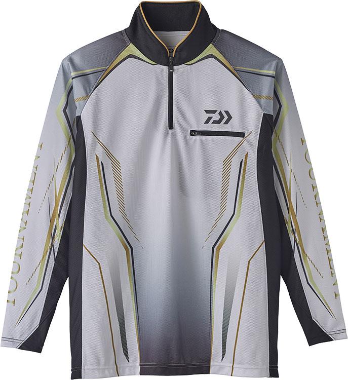 正規品販売! ダイワ (Daiwa) DE-73020 ホワイト Mサイズ (トーナメント アイスドライ® ジップアップ メッシュシャツ), 生活空間 ランラン 1455ff8d