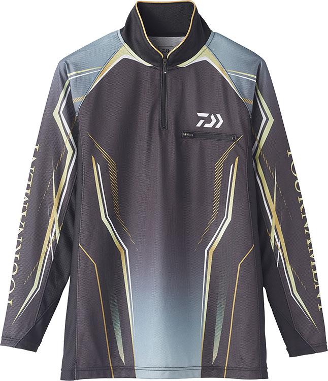 ダイワ (Daiwa) DE-73020 ブラック 3XLサイズ (トーナメント アイスドライ® ジップアップ メッシュシャツ)