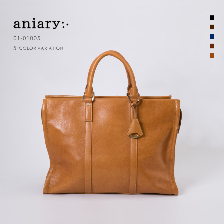【aniary|アニアリ】Antique Leather アンティークレザー 牛革 Brief ブリーフケース 01-01005 [送料無料]