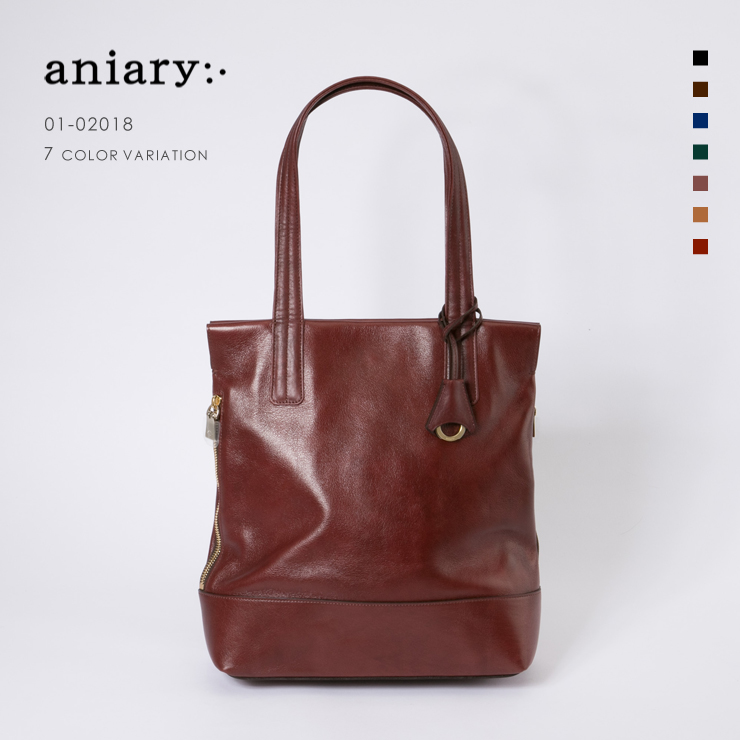 【aniary|アニアリ】Antique Leather アンティークレザー 牛革 Tote トートバッグ 01-02018 [送料無料]