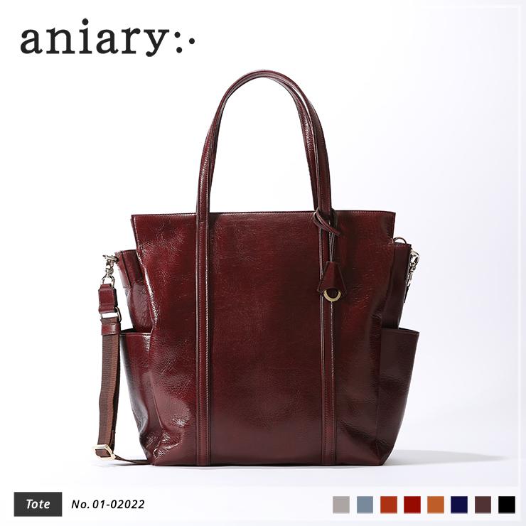 【新色 2019 S/S】【aniary|アニアリ】Antique Leather アンティークレザー 牛革 Tote トートバッグ 01-02022 [送料無料]