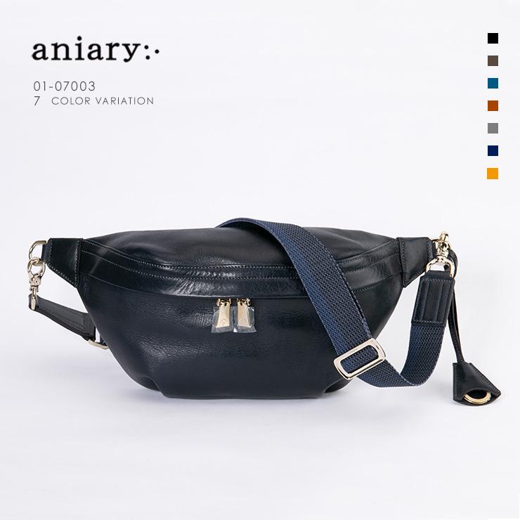 【aniary アニアリ】Antique Leather アンティークレザー 牛革 Body Bag ボディバッグ 01-07003 [送料無料]