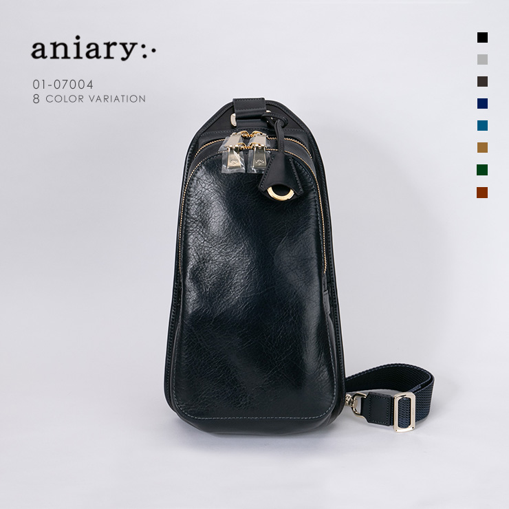 【aniary|アニアリ】Antique Leather アンティークレザー 牛革 Body Bag ボディバッグ 01-07004 [送料無料]